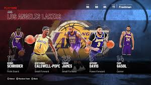 When designing a new logo all images and logos are crafted with great workmanship. Los Angeles Lakers Nba 2k21 Roster 2k Ratings
