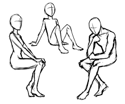 Drawing How To Draw Someone Sitting In A Chair Together With How
