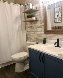 Rustic Bathroom Update - Peel and Stick ...