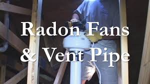 Radon Vent Pipe and Fan Installation - YouTube