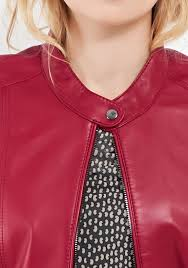gerry weber leather biker jacket dark red be the first to review this