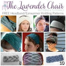 Knit Ear Warmer Pattern Inspiration FREE HeadbandEarwarmer Knitting Patterns The Lavender Chair