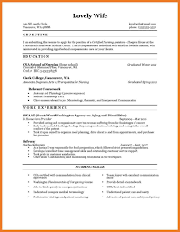 Cna Resumective Examples Example Skills Nursing Assistant Sample