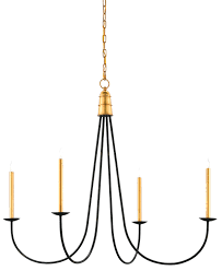 simpatico orb chandelier four light small full size