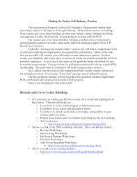 golf resume cover letter samples superintendent cover letter