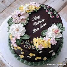 The Name Dear Mom Is Generated On Happy Birthday Images Download