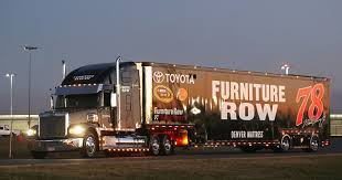 Furniture Row Racing hauler suffers damage in hit and run accident
