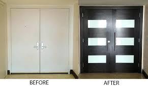 contemporary front door furniture. Modern Entry Door Doors Refacing Before And After Front Home . Contemporary Furniture A