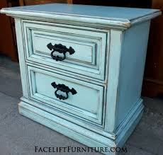 distressed blue furniture. nightstand in distressed robinu0027s egg blue with black glaze original pulls painted from furniture a