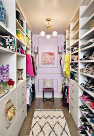 An Incredible Closet. Designate a Dressing Room. Lavender / lilac and gold.  Interior