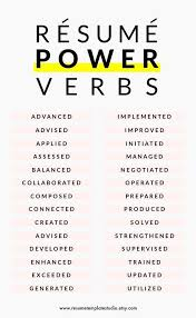 Resume Verbs Gorgeous Resume Power Verbs And Resume Tips To Boost Your Resume A New