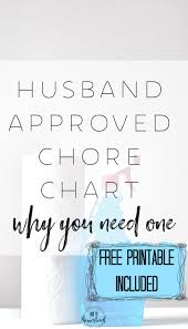Chore Charts Your Husband Needs One Here To Homestead