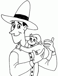 curious george monkey coloring pages the man with yellow hat and