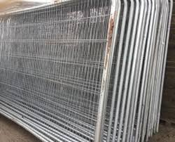 metal fence panels. Delighful Metal U2022Usedu2022 Heras Style Temporary Metal Fence Panels  Site Security Fencing In L