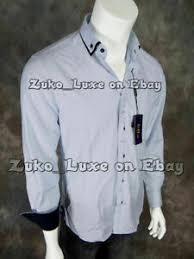 Details About Mens Brio Milano Button Dress Shirt Baby Blue With Subtle Matching Pattern