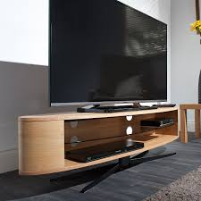techlink ello ellipse  tv stand in light oak