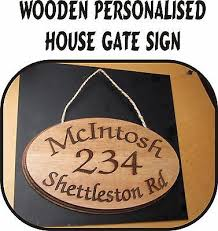 sign 2 sizes gate sign plaque door name