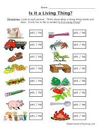 Living and Nonliving Things Worksheet   Have Fun Teaching
