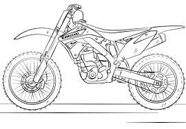 Kawasaki Motocross Bike Kleurplaat Kleurplaten Jongens Coloring