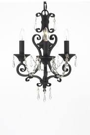 image of gallery lighting wrought iron crystal chandelier