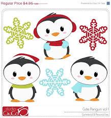cute penguin christmas clipart. BLACK FRIDAY 50 OFF Cute Penguins Vol Digital Clip Art Commercial To Penguin Christmas Clipart