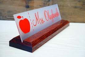 teacher desk name plate wooden ideas greenvirals style