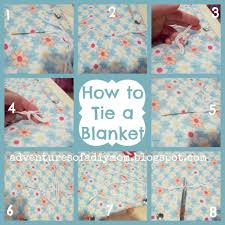 How to Tie a Blanket - Adventures of a DIY Mom & Most fabrics will have some type of pattern that you can use to make your  ties. Adamdwight.com