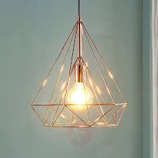 copper coloured cage pendant light jossa 9621153 02