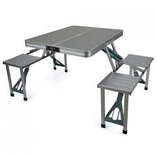 portable picnic table set design with trail aluminium and folding camping outdoor table