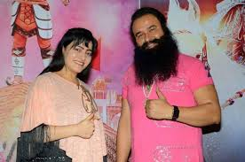 Image result for images of ram rahim and hanipreet