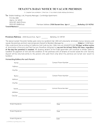 30 day eviction notice forms 10 best images of california 30 day notice forms 30 day notice
