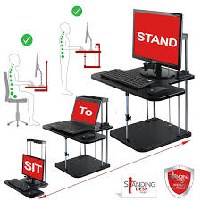 com standing desk hub sit stand desk converter adjule to any height pro uplift computer workstations for home and office use plus limited