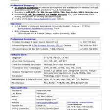Sample Resume For Software Developer With Experience Refrence Sample