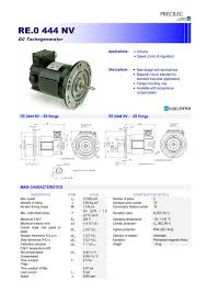 radio energie re 0 444nv dc tachometer generator reo444nv precilec radio energie re 0 444nv dc tachometer generator reo444nv precilec 1 2 pages