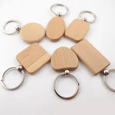 whole best engraved gifts 2018 diy blank wooden key chain ring holder wooden