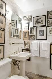 classic white bathroom ideas. Antique Black And White Wall Art With Elegant Free Standing Sink For Small Bathroom Ideas Classic Decor