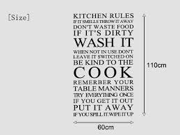 large quote kitchen rules vinyl wall art sticker wall stickers for kitchen decor free shipping size 60 110cm in wall stickers from home garden on  on wall art kitchen rules with large quote kitchen rules vinyl wall art sticker wall stickers for