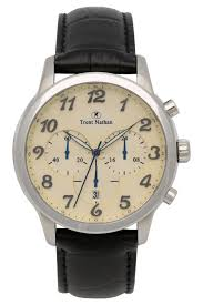 trent nathan black leather watch tng101g2 myer online