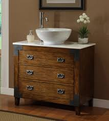 Bathroom Sink Bowls With Vanity  Awesome Remodeling Idea With  Brown Wooden Designed Sink Bowls On Top Of Vanity N85