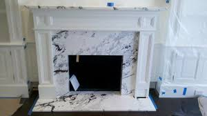 modern marble fireplace calacatta capri fireplace surround paramount stone