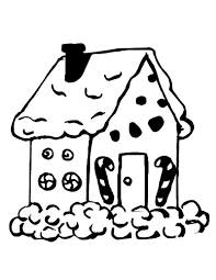 Full Gingerbread Men Coloring Pages Man House Coloringstar 4958