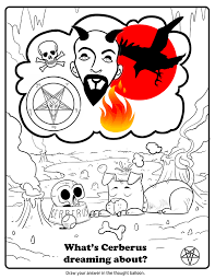 the children of satan now have their own coloring book