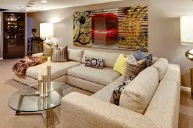 michael weiss sectional living room contemporary with round coffee