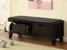 Leather Storage Bench Bedroom Benches For Bedroom With Storage