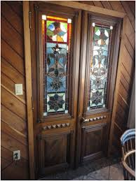 vintage stained glass front door ideas