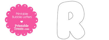 free printable bubble letter r template 610x229