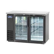 arctic air abb48g back bar refrigerator 2 section glass doors