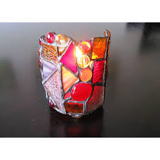 marigold stained glass candle holder in usa and canada
