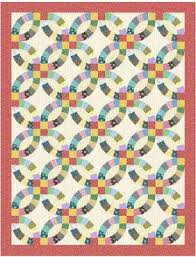 Quilt Inspiration: Wedding Ring Quilt Inspiration... and free patterns & Double Wedding Ring quilt, 54 x 70