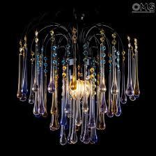 chandelier venetian drop original murano glass 0001 jpg drop chandelier in blue amber